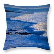 California Pismo Beach Waves Throw Pillow