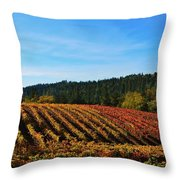 California Winery Apple Hill Throw Pillow
