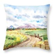 Californian Landscape Saint Johns Ranch Of Mountain Shasta County Throw Pillow