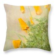 California's Poppy Throw Pillow