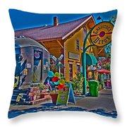 Calistoga Depot Throw Pillow