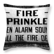 Call The Fire Dept Throw Pillow