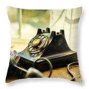 Call Waiting Throw Pillow