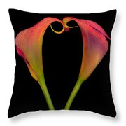 Calla Lillies Kissing Throw Pillow