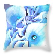 Calla Lilly So Soft Lilac And Blue Throw Pillow