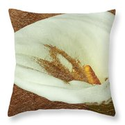 Calla Lily Gold Leaf Throw Pillow