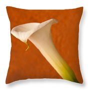 Calla Lily In Bloom Throw Pillow