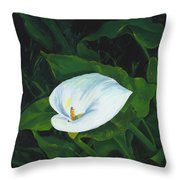 Calla Lily In The Garden Of Diego And Frida Throw Pillow