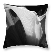 Calla Lily Named Crystal Blush Throw Pillow