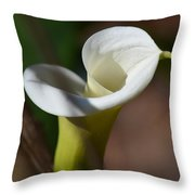 Calla Lily Swirl Throw Pillow