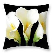 Calla Lily Trio Throw Pillow