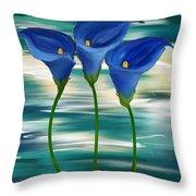 Calla Trio- Calla Lily Paintings Throw Pillow