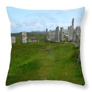 Callanish Looking North Throw Pillow
