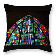 Callaway Gardens Chapel Stained Glass Throw Pillow