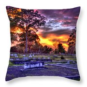 Callaway Graves At Sunset Throw Pillow