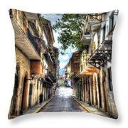 Calle 8a Este Throw Pillow