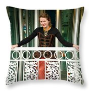 Calley In Full Color Throw Pillow