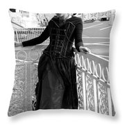 Calley In The Corner Black And White Throw Pillow