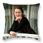 Calley Taking It All In Throw Pillow