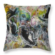 Calligraphy Abstract 03 Throw Pillow