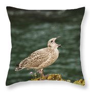 Calling For Food Throw Pillow