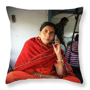 Calling From The Train Throw Pillow