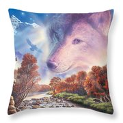 Calling To The Pack Throw Pillow