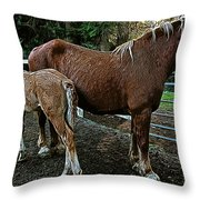 Calliope And Jj Throw Pillow