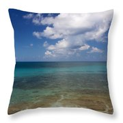 Calm Caribbean Ocean Throw Pillow