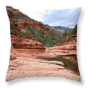 Calm Day At Slide Rock Throw Pillow