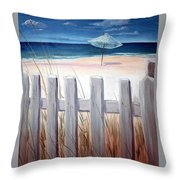 Calm Day At The Seashore Throw Pillow