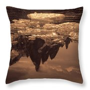 Calm Day In Patagonia Throw Pillow