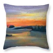 Calm Evening Throw Pillow