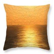 Calm Sunset At Sea Throw Pillow