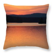 Calm Sunset Throw Pillow