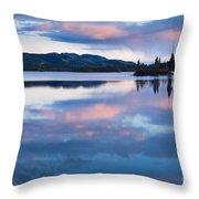 Calm Twin Lakes At Sunset Yukon Territory Canada Throw Pillow