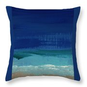 Calm Waters- Abstract Landscape Painting Throw Pillow