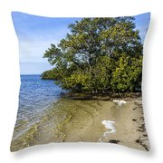 Calm Waters On The Gulf Throw Pillow