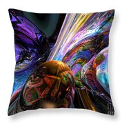 Calming Madness Abstract Throw Pillow