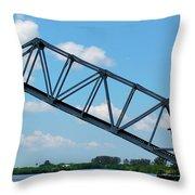 Caloosahatchee Train Draw Bridge Throw Pillow