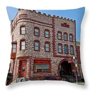 Calumet Hotel-1887 In Pipestone-minnesota  Throw Pillow