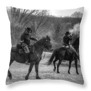 Calvary Charge Civil War Throw Pillow