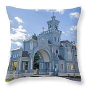Calvary Gatehouse  Throw Pillow