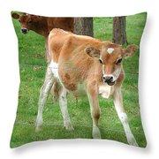 Calves Throw Pillow