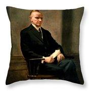 Calvin Coolidge Presidential Portrait Throw Pillow