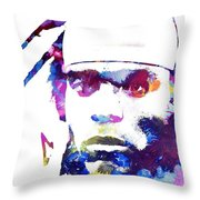 Cam Newton - Doc Braham - All Rights Reserved Throw Pillow