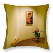 Camaldoli Monastery Prayer Room Throw Pillow