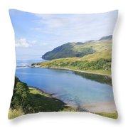 Camas Nan Geall Ardnamurchan Scotland Throw Pillow