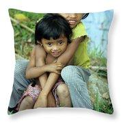 Cambodian Children 02 Throw Pillow