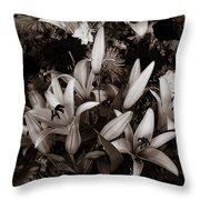 Cambodian Flower Arrangement Throw Pillow